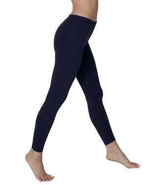SARLINI Rose katoenen basic legging Donkerblauw