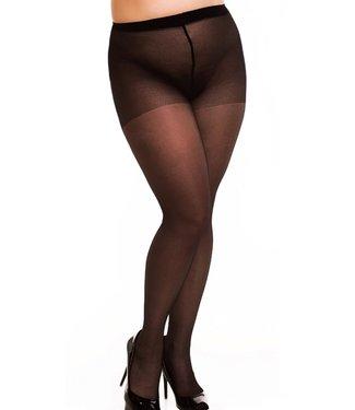 Glamory Satin 40 grote maten glanspanty zwart