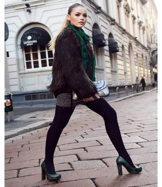 BONNIE DOON Ladies Plain maillot katoen zwart