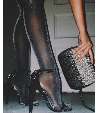 MARCMARCS Black Glitter Love 20 zwarte glitterpanty