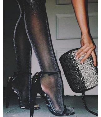 MARCMARCS Black Glitter Love 40 zwarte glitterpanty