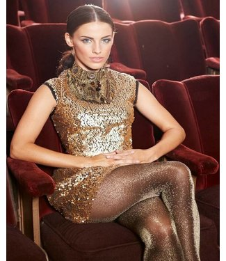 MARCMARCS Gold Glitter Love 20 gouden glitterpanty