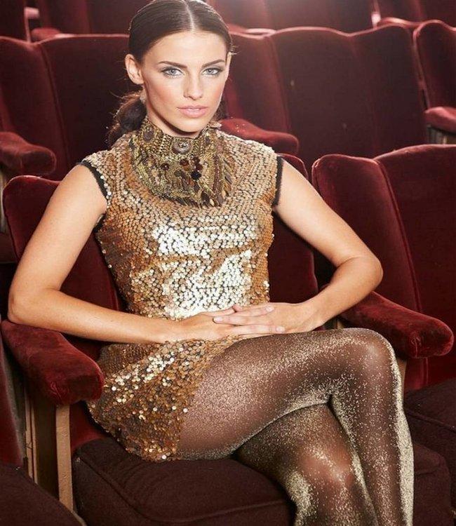 MARCMARCS Gold Glitter Love 40 gouden glitterpanty