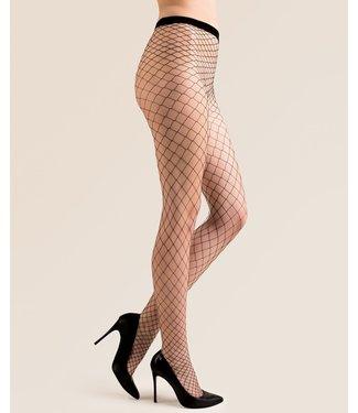 GABRIELLA Betty Page grove zwarte netpanty