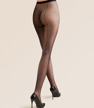 GABRIELLA Kabarette zwarte netpanty met naad