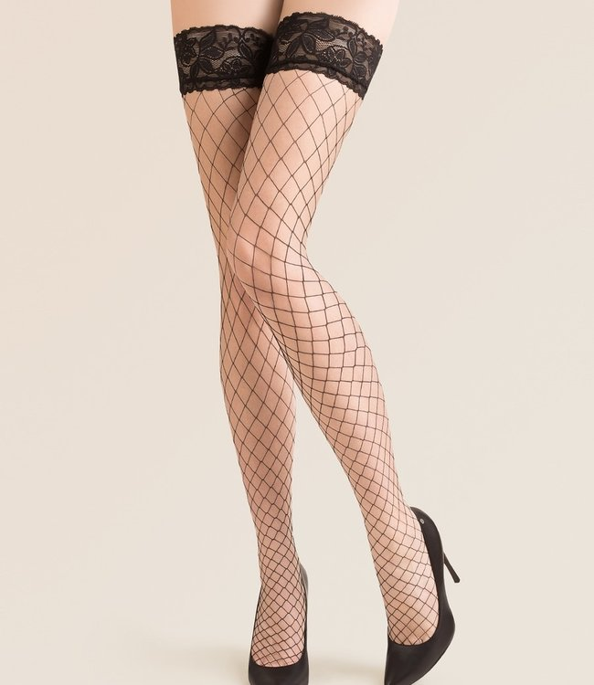 GABRIELLA Betty Page grove zwarte netkousen