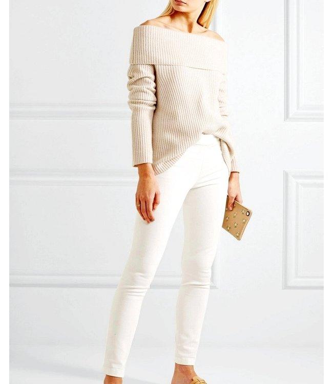 SARLINI Rose katoenen basic legging wit