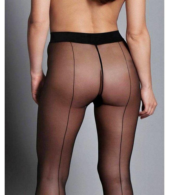 MARILYN Art Deco 20 panty met zwarte naad