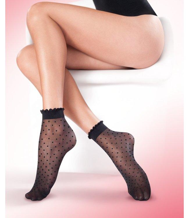 GABRIELLA Puntina Dots 15 zwarte pantykousjes