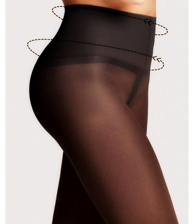 FIORE Fit Control 40 hoge taillepanty Zwart