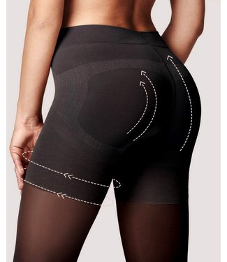 FIORE Press Up 40 Control panty zwart