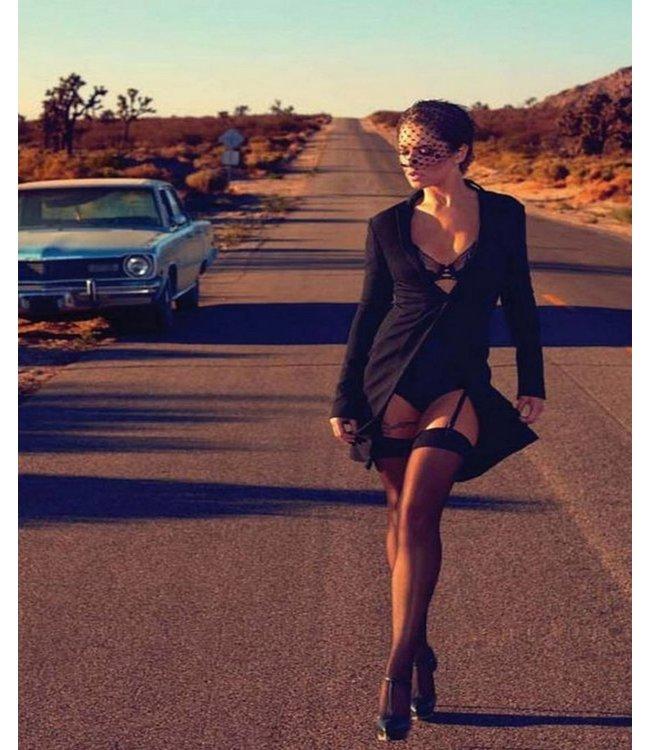 PRETTY POLLY Nylons stockings 10 zwarte nylonkousen