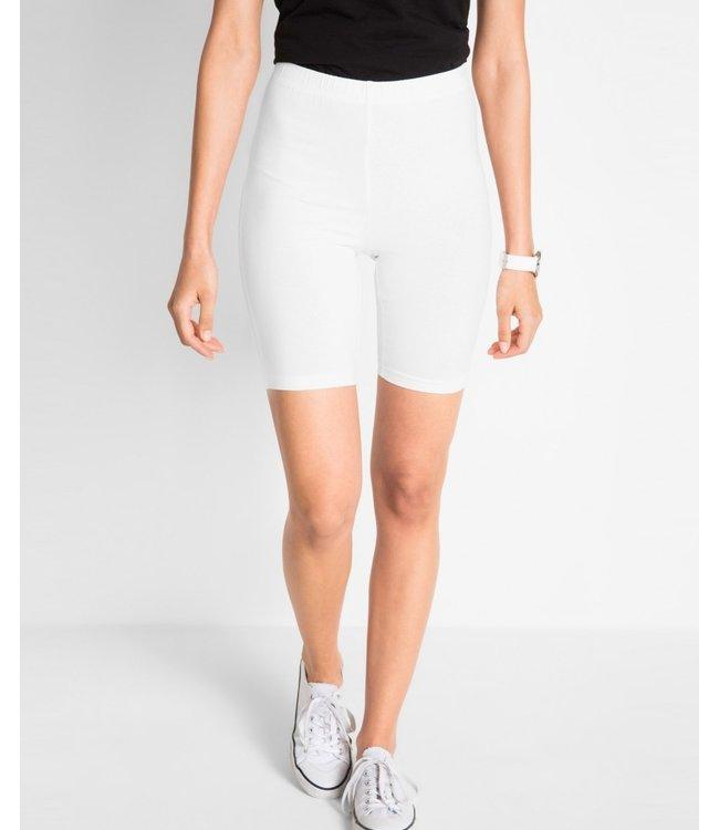 MARIANNE Marseille katoenen shorts legging wit