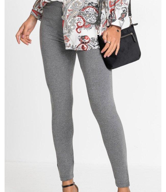SARLINI Rose katoenen basic legging grijs