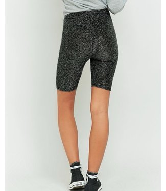 SARLINI Rebel zwarte biker shorts met glitters