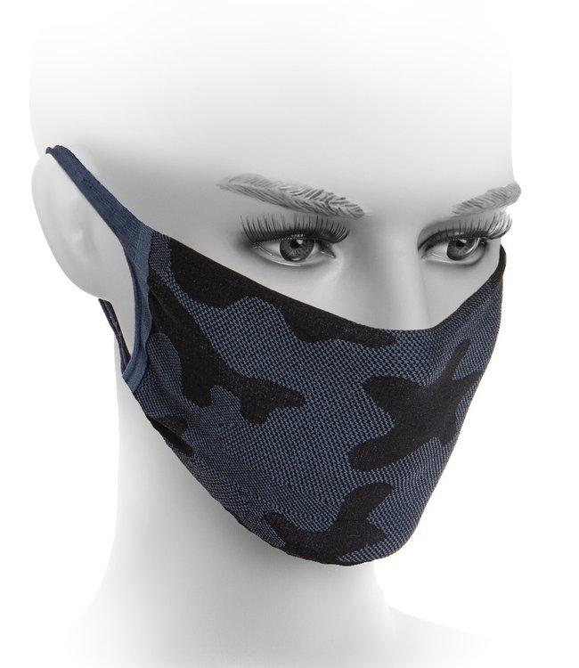 FIORE Neda mondkapje zwart / blauw