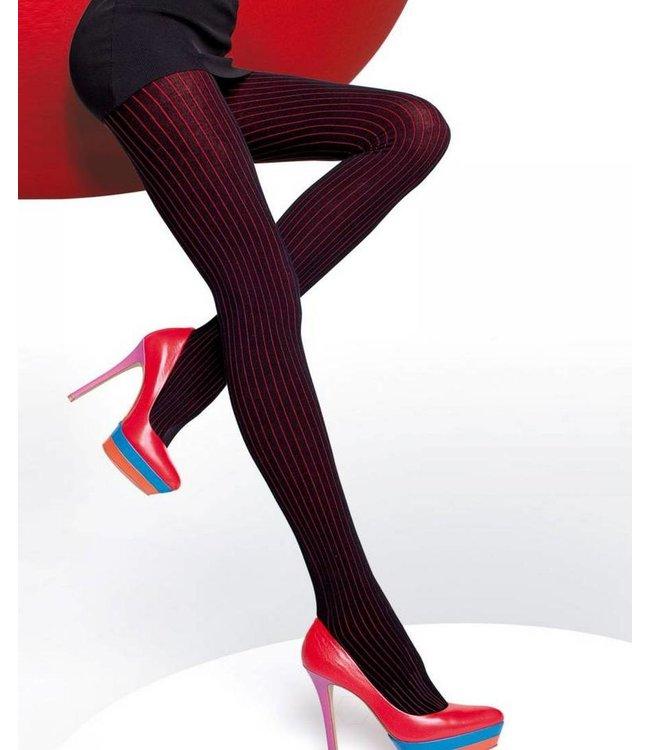 FIORE Xara zwart/rode streepjesmaillot