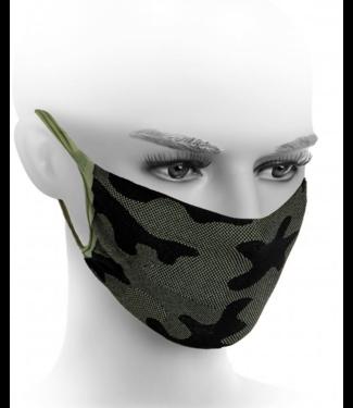 FIORE Neda mondkapje zwart / groen