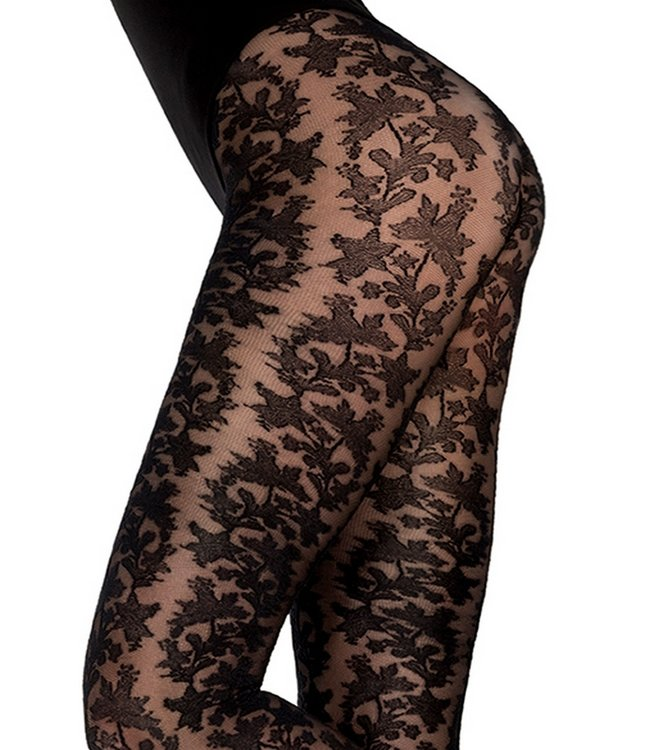 MARCMARCS Lace Look 40 zwarte kanten panty