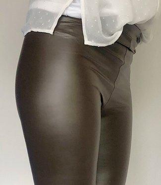 MARIANNE Manchester bruine leatherlooklegging