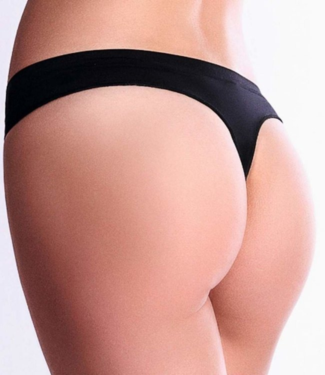 GIULIA Invisible zwarte seamless string