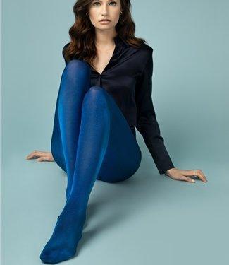 FIORE Glossy 70 blauwe glanspanty