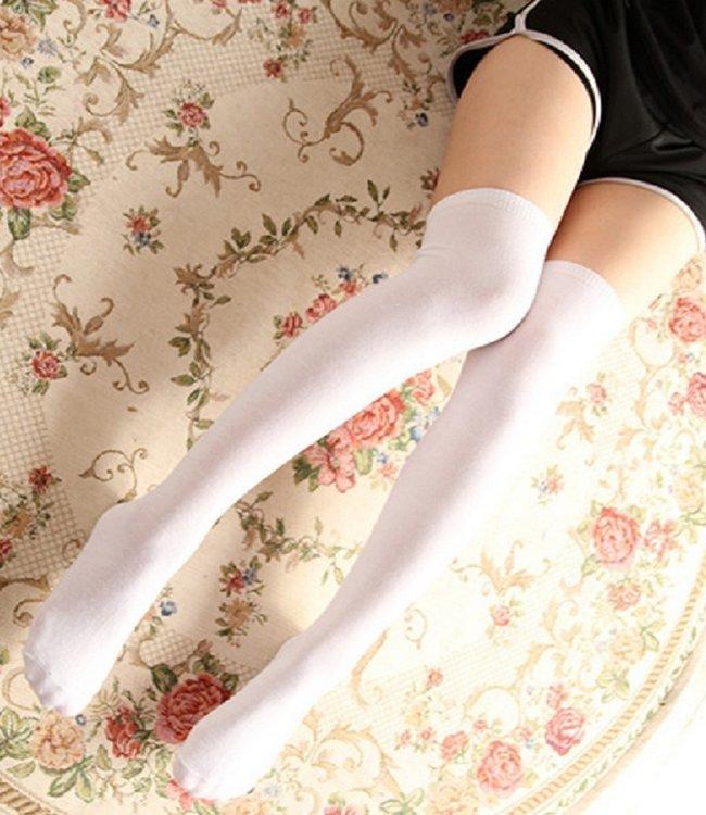 BONNIE DOON Jill katoenen overknees wit