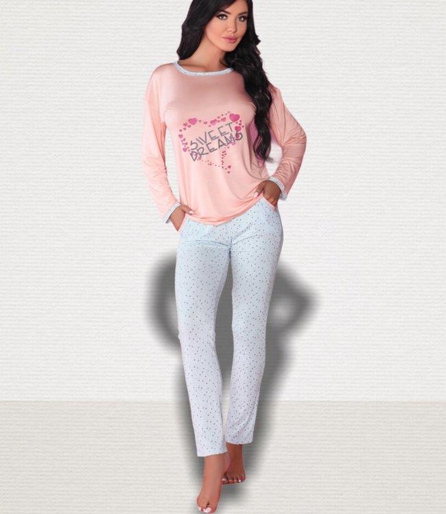 LIVIA CORSETTI Sweet Dreams pyjama roze / lichtblauw