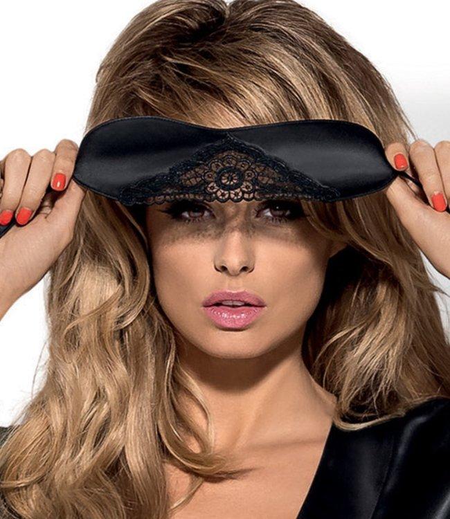 OBSESSIVE Satinia satijnen oogmasker zwart