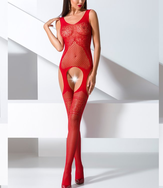 PASSION Diona bodystocking rood 061