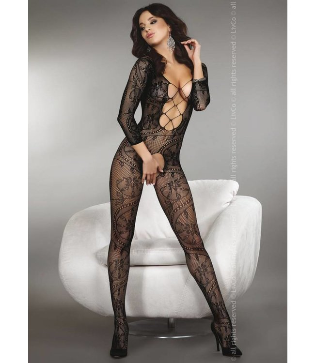 LIVIA CORSETTI Zita sexy zwarte catsuit