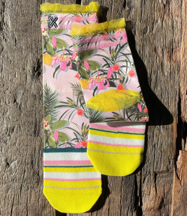 XPOOOS Naima bloemen korte sokken