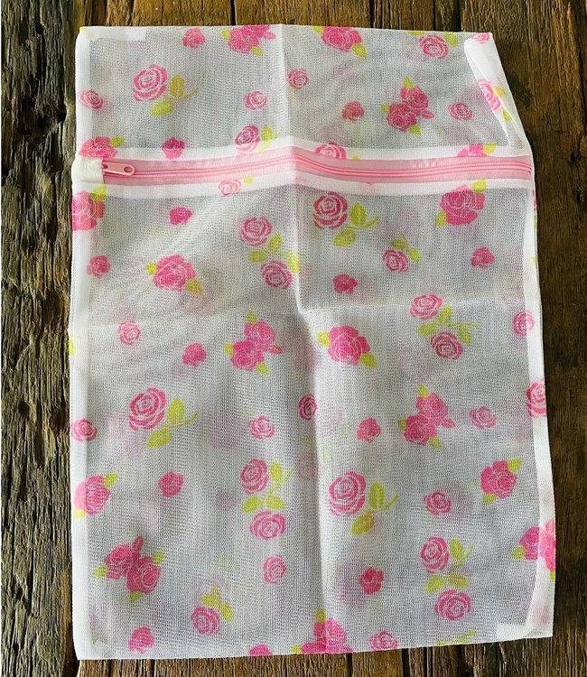 SOSHIN Fleur waszakje wit / roze 30 cm x 40 cm