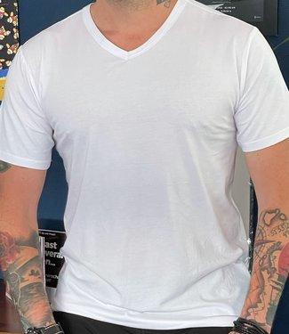 APOLLO Bamboo heren t-shirt V-hals Wit | 2 paar