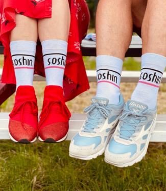 SOSHIN SOSHIN witte, katoenen sokken met/van/door SOSHIN
