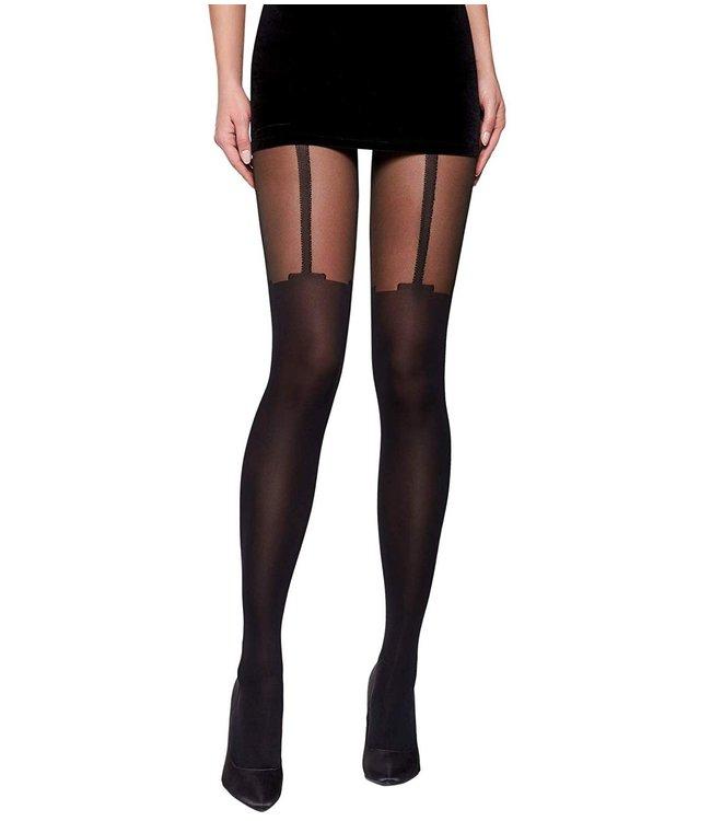 FIORE Milla 40 Suspender panty zwart