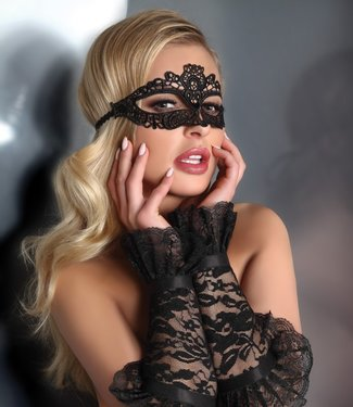 LIVIA CORSETTI Triveneto zwart venetiaans masker