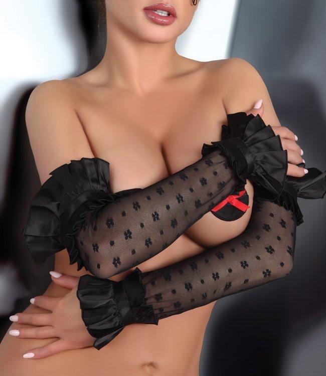LIVIA CORSETTI Ashley lange, zwarte handschoenen