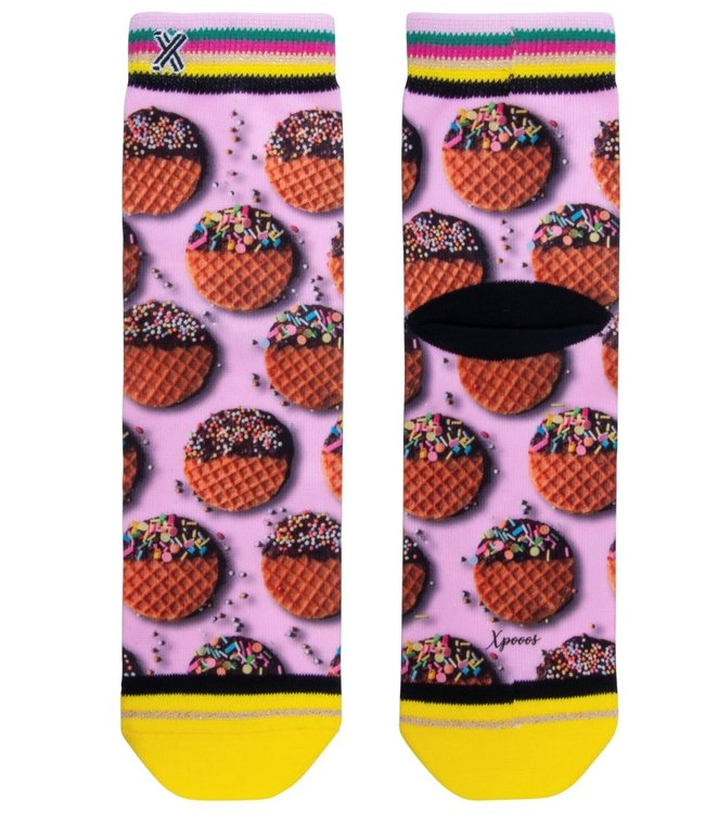 XPOOOS Waffle Cookie korte sokken