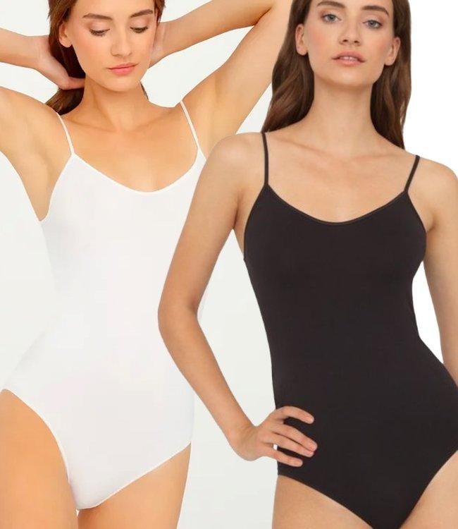 GATTA Camisole naadloze body in zwart of wit