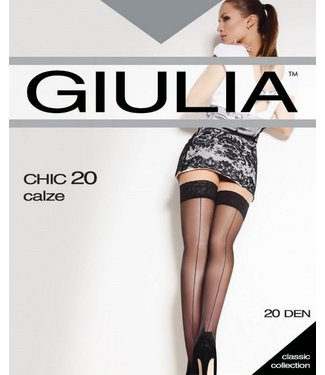 GIULIA Chic 20 bruine naadkousen glans