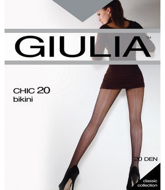 GIULIA Chic 20 bruine naadpanty glans