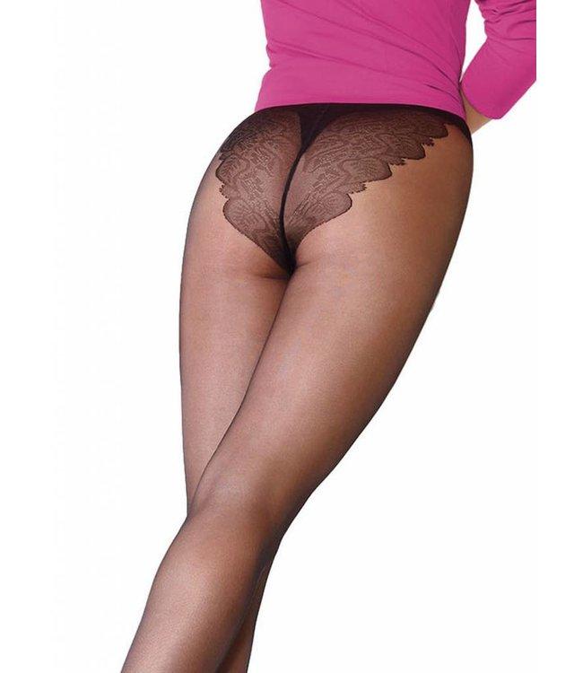 GIULIA Bikini 20 zwarte panty met broekje