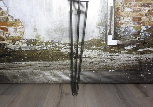 Betonijzer tafelpoot Hairpin zwart
