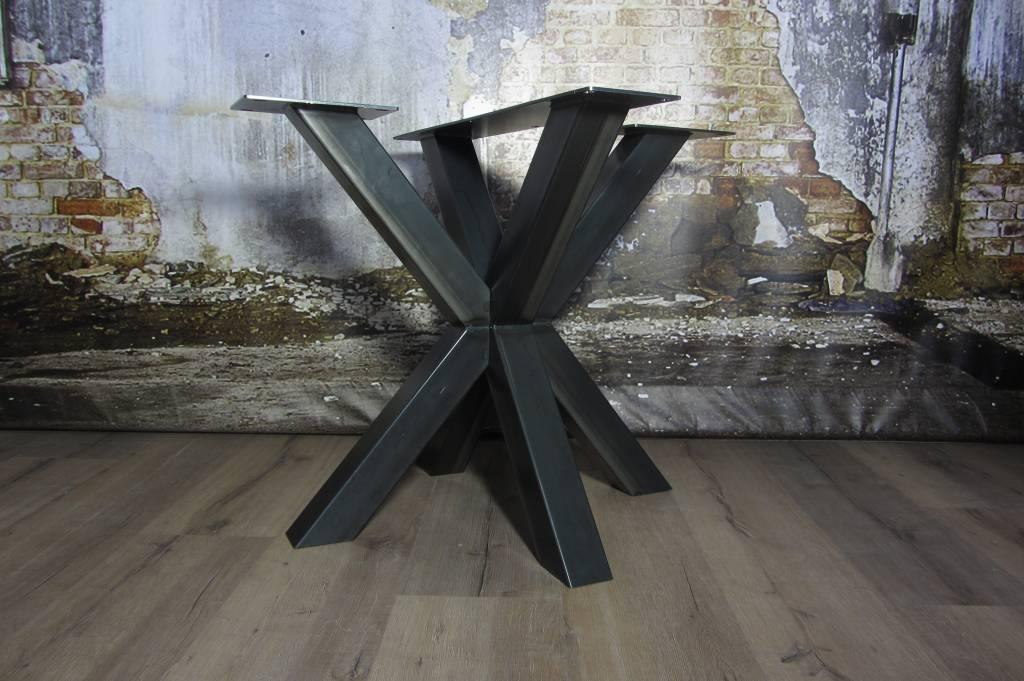 Handgemaakte industriele tafelpoten model dubbele kruispoot d