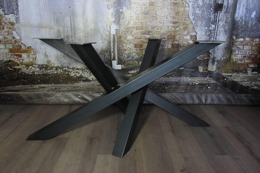 Metalen Tafelpoot Voor Ronde Tafel.Handgemaakte Industriele Tafelpoten Model Twist Tafelonderstel