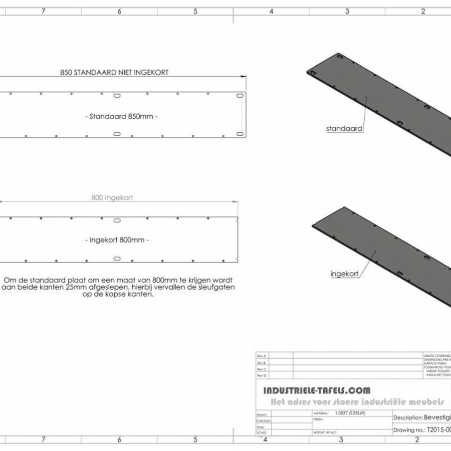 Handgemaakt industrieel tafelonderstel Matrix tafelpoot Zwaar - VERZINKT