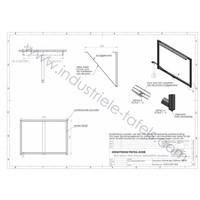Tafelonderstel Frame 3x3 tafelpoot