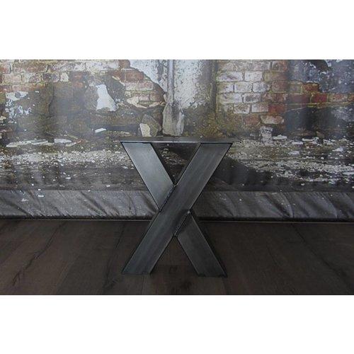 Bankpoot model X transparant gecoat