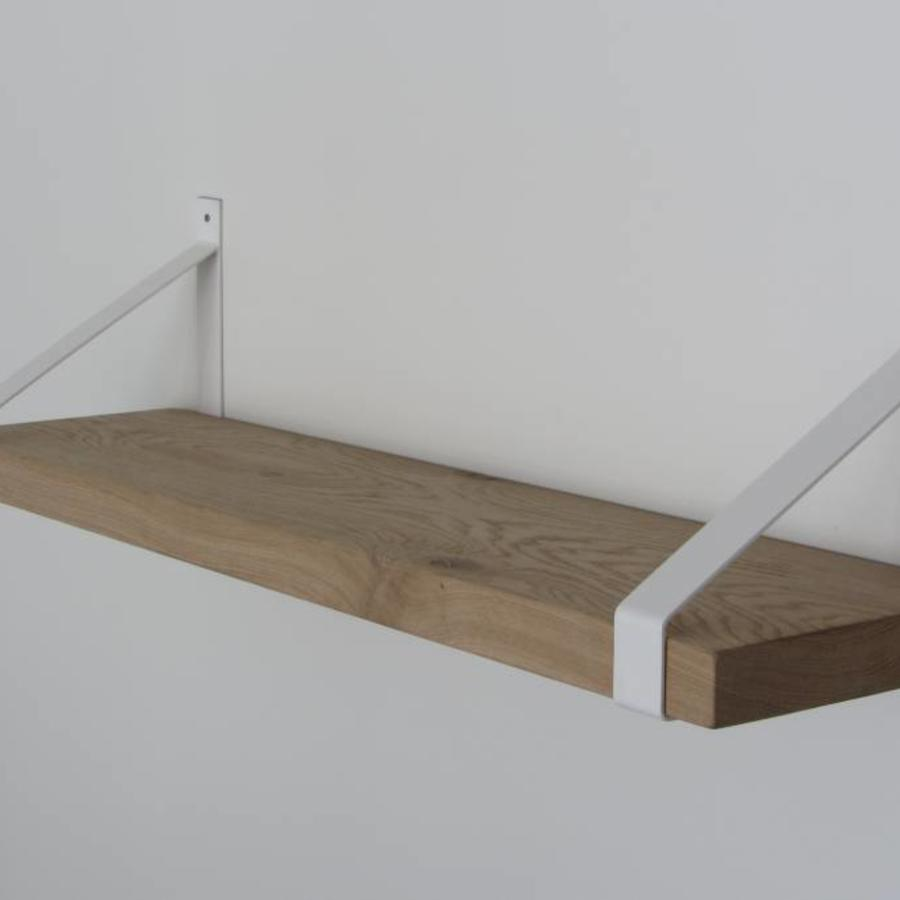 Witte Plank Op Maat.Stoere Industriele Plankdragers Voor Een Wandplank Op Maat
